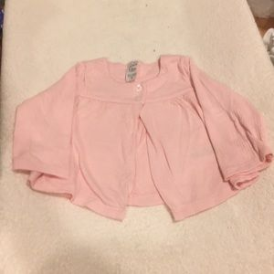 Pink 2-button coverup (12mo)